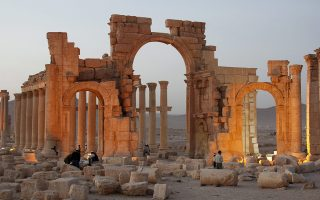 epa04963902 (FILE) A file picture dated 12 November 2010 shows a general view of the historic site of the ancient city of Palmyra, central Syria. According to media reports on 05 October 2015, militants of the so-called Islamic State (ISIS or IS) have blown up Palmyra's ancient Arch of Triumph. Few months ago, the jihadist group blew up the 2,000-year-old Temple of Bel, the Baalshamin Temple and some of the famed tower tombs in Palmyra, a UNESCO-listed World Heritage Site. Islamic State extremist militia, which controls large swathes of territory in Syria and Iraq, has been reportedly destroying building sites with no religious meaning, including the Arch of Triumph. Palmyra, some 240km (150 miles) northeast of Damascus, emerged to become a powerful state after the Romans took control, serving as a link between the ancient Orient and Mediterranean countries.  EPA/YOUSSEF BADAWI