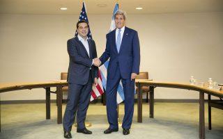 O Αμερικανός υπουργός Εξωτερικών, Τζον Κέρι και ο Ελληνας πρωθυπουργός, Αλέξης Τσίπρας είχαν συναντηθεί σε θετικό κλίμα τον Σεπτέμβριο στη Νέα Υόρκη, ενώ προσεχώς αναμένεται η επίσκεψη του πρώτου στην Αθήνα.