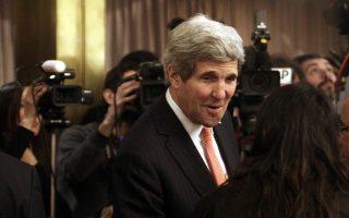 Ο υπουργός Εξωτερικών των ΗΠΑ Τζον Κέρι  συμμετέχει στην Διάσκεψη για την Λιβύη στη Ρώμη , Ιταλία, Πέμπτη 6 Μαρτίου 2014. ΑΠΕ-ΜΠΕ/ΑΠΕ-ΜΠΕ/ΑΛΕΞΑΝΔΡΟΣ ΒΛΑΧΟΣ