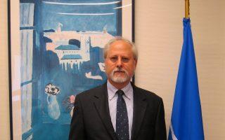 Ο βοηθός γενικός γραμματέας του ΝΑΤΟ, Θρασύβουλος Σταματόπουλος.
