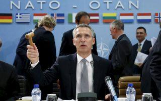 Ο γενικός γραμματέας του ΝΑΤΟ Γ. Στόλτενμπεργκ προεδρεύει της χθεσινής συνόδου υπουργών Αμυνας της Συμμαχίας, στις Βρυξέλλες.