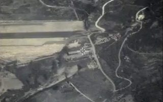 epa04964096 A handout frame grab taken from a video footage made available on the official website of the Russian Defence Ministry on 05 October 2015 shows an aerial view of targetting what Russia says was a terrorists munitions depot shortly before airsrikes carried out by Russian warplanes near Jisr al-Shughour in Idlib province, Syria, 04 October 2015. According to information relerased on the official website of the Russian Defence Ministry, Russian warplanes located at the Syrian Hmeymim airbase carried out 20 sorties against so-called Islamic State (ISIS or IS) facilities in the past 24 hours.  EPA/RUSSIAN DEFENCE MINISTRY PRESS SERVICE/HANDOUT BEST QUALITY AVAILABLE HANDOUT EDITORIAL USE ONLY/NO SALES