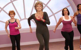 Jane Fonda, 73, slips back into her leotard for new fitness DVDs