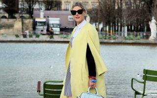 Belgium fashion blogger Sofie Valkiers arrives at the Elie Saab Autum/Winter 2014-15 fashion show in Jardins des Tuileries in Paris, France