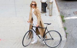 Karlie Kloss trades her angel wings for wheels in New York
