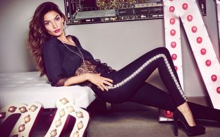Lily Aldridge models for Nelly.com