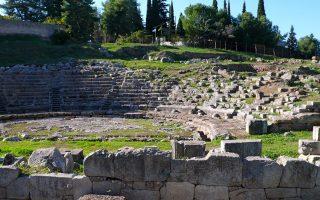Το αρχαίο θέατρο στο αρχαιολογικό πάρκο του Ορχομενού. (Φωτογραφία: ΒΑΣΙΛΙΚΗ ΚΕΡΑΣΤΑ)
