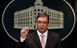 Ο πρωθυπουργός απέφυγε να δεσμευθεί, ωστόσο υπενθύμισε στον κ. Βούτσιτς (φώτο) τη στάση του Βελιγραδίου στο θέμα της ΠΓΔΜ,