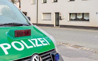 Το σπίτι όπου βρέθηκαν τα πτώματα, στο Βέλενφελς στη νότια Γερμανία. Μέχρι στιγμής δεν είναι γνωστό ποιος ήταν ο ένοικος του διαμερίσματος.