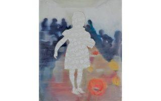 Η φιγούρα ενός κοριτσιού, συμβολικό έργο της προέδρου της ΜΚΟ ΕΛΙΖΑ κ. Μαρίνας Καρέλλα, εικαστικού.