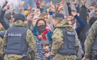 Εγκλωβισμένοι στην Ειδομένη. Η πολιτική ατζέντα της καγκελαρίου Μέρκελ επιτάσσει τη μείωση των προσφυγικών και μεταναστευτικών ροών προς τη Γερμανία.