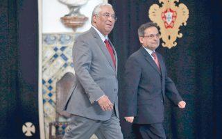 O Σοσιαλιστής Αντόνιο Κόστα (αριστερά) έλαβε κυβερνητική εντολή.