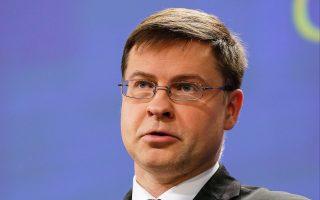 Ο αντιπρόεδρος της Κομισιόν, Βλάντις Ντομπρόβσκις, τόνισε πως θα πρέπει να δοθεί μεγαλύτερο βάρος στις επενδύσεις, στις διαρθρωτικές μεταρρυθμίσεις και στη χάραξη μιας υπεύθυνης δημοσιονομικής πολιτικής.