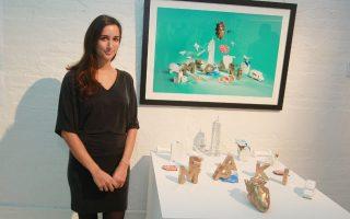 Το meraki του Hennessy. Christiana Theophanopoulos λέγεται η νικήτρια του διαγωνισμού Wild Rabbit Design Challenge, που διοργανώνεται για τέταρτη χρονιά. Οι καλύτεροι του Pratt Institute κατέθεσαν τις προτάσεις τους και μια Ελληνίδα κέρδισε. Το έργο με τίτλο Meraki αναδείχθηκε νικητής και μαζί με τις άλλες προτάσεις εκτέθηκε στην Openhouse της Νέας Υόρκης.  (Photo by Donald Traill/Invision for Hennessy/AP Images)