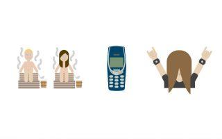 Νέα Φιλανδικά. Για πρώτη φορά μια χώρα επισήμως υιοθετεί τα emojis για την χρησιμοποίησή τους στην ψηφιακή επικοινωνία. Τα Φιλανδικά emojis ή αν θέλετε καλύτερα σύμβολα-σχέδια, αντιπροσωπεύουν και εικονογραφούν μερικά από τα πιο σημαντικά φιλανδικά στοιχεία, γνωστά παγκοσμίως. Όπως η σάουνα, το διάσημο κινητό Nokia και το χεβιμεταλάδικο moshing heavy metal dude. Σύμφωνα με τον σχεδιασμό η Φιλανδία στο επίσημο country brand website (!) θα δημοσιεύσει μια λίστα από 30 emojis.  REUTERS/ThisisFINLAND (Ministry for Foreign Affairs of Finland)