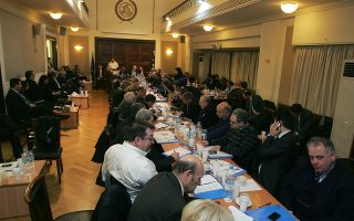 Φωτογραφία από παλαιότερη συνεδρίαση των δικηγορικών συλλόγων της χώρας