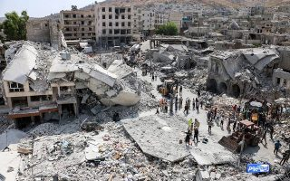 epa04870677 A photograph made available by the opposition group Ariha Today purportedly to show the area where a Syrian government war plane in the town of Ariha, Idlib province, Syria, 03 August 2015. According to reports, at least 23 people were killed as a result of aerial bombings by the Syrian government and the subsequent crash of a war plane near a market area in in Ariha, an area which was captured from the government by rebels in May. There was no indication yet if the plane crash was the result of a technical problem or whether it was shot down. ATTENTION EDITORS : EPA IS USING AN IMAGE FROM AN ALTERNATIVE SOURCE AND CANNOT PROVIDE CONFIRMATION OF CONTENT, AUTHENTICITY, PLACE, DATE AND SOURCE. HANDOUT EDITORIAL USE ONLY/NO SALES