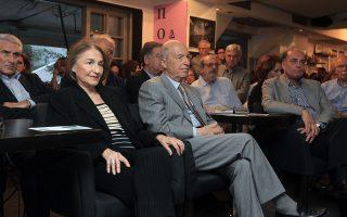 Ο πρώην πρωθυπουργός Κώστας Σημίτης στην Πανελλήνια Συνδιάσκεψη της Ελιάς, η οποία πραγματοποιήθηκε στο ΣΕΦ τον Μάρτιο του 2014.