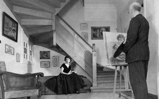 O Aξελός ζωγραφίζει την κόρη του, Αννα. Εργα με την οικογένειά του θα δούμε στην έκθεση της Τράπεζας της Ελλάδος.