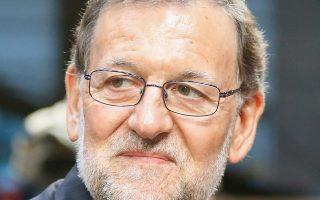 Ο Ισπανός πρωθυπουργός Μαριάνο Ραχόι χθες στη Βαρκελώνη.