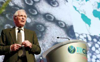 Ο βραβευμένος με Nobel Φυσιολογίας/Ιατρικής, καθηγητής Harald zur Hausen.