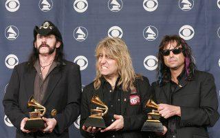 Οι Motorhead στην απονομή των βραβείων Grammy το 2005 /AFP PHOTO/Robyn BECK