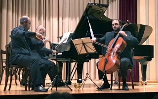 Από αριστερά: Απόλλων Γραμματικόπουλος, Γιάννης Τσανακαλώτης, Άγγελος Λιακάκης. © Γιάννης Χαραλαμπίδης.