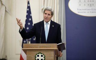 Ο κ. Κέρι εξήρε την πολιτική των τριμερών συναντήσεων Ελλάδας και Κύπρου με την Αίγυπτο και το Ισραήλ.