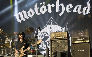 epa05082730 A file picture dated 03 July 2015 shows Ian 'Lemmy' Kilmister, singer and bassist of the British rock band Motorhead, perform during their concert at the annual VOLT Festival in Sopron, 208 kms west of Budapest, Hungary. Lemmy Kilmister has died at the age of 70, following an aggressive cancer, his British rock group Motorhead annouced on 28 December 2015.  EPA/PETER NYIKOS HUNGARY OUT