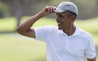 Ο Μπαράκ Ομπάμα έπαιζε γκολφ τη Δευτέρα στη γενέτειρά του, τη Χαβάη.