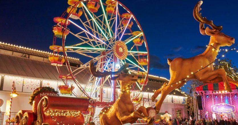 Το Christmas Factory στο Γκάζι θα λειτουργήσει έως τις 6 Ιανουαρίου.