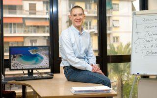 Ο 30χρονος Τάκης Δημητρακόπουλος, ένας εκ των συνιδρυτών. Φωτογραφία¨Βαγγέλης Ζαβός.