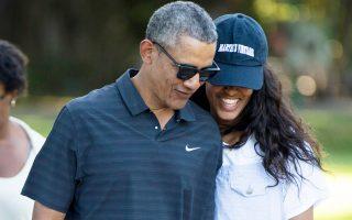 Ο Αμερικανός πρόεδρος Μπαράκ Ομπάμα και η κόρη του Μαλία.