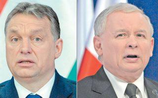 O άξονας Ορμπαν - Κατσίνσκι και η κοινή στρατηγική απέναντι στις ευρωπαϊκές επικρίσεις προξενούν πονοκέφαλο στις Βρυξέλλες και στο Βερολίνο.