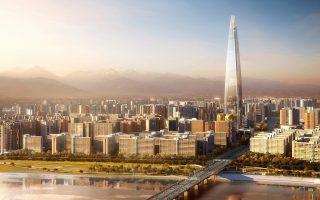 Στη Σεούλ, στη Νότιο Κορέα, ο Lotte World Tower έχει σχεδιαστεί από το γραφείο Kohn Pedersen Fox του Σικάγου. Θα έχει ύψος 555 μέτρα και θα είναι ο ψηλότερος στη χώρα.
