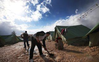 Σύροι πρόσφυγες στον καταυλισμό Μαρτζ του Λιβάνου.