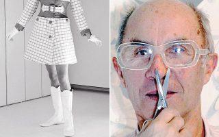 Καθαρές, γεωμετρικές γραμμές, ρούχα κομμένα σε γραμμή Α είναι το στυλ του Αντρέ Κουρέζ που πέθανε σε ηλικία 92 ετών στο Παρίσι.