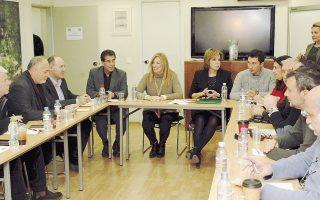 Η πρόεδρος του ΠΑΣΟΚ Φώφη Γεννηματά συναντήθηκε χθες με τους εκπροσώπους της ΑΔΕΔΥ.