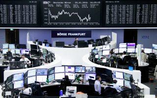 Στο Λονδίνο ο FTSE 100 σημείωσε άνοδο 0,58%, στη Φρανκφούρτη (φωτ.) ο DAX κινήθηκε υψηλότερα κατά 0,89% και στο Παρίσι ο CAC 40 έκλεισε με κέρδη 1,06% στις 4.357 μονάδες.