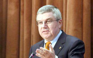 O πρόεδρος της Διεθνούς Ολυμπιακής Επιτροπής, Τόμας Μπαχ, τίμησε με την παρουσία του τη χθεσινή εκδήλωση.
