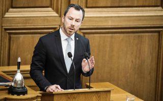 Στιγμιότυπο από τη συζήτηση στο δανικό Κοινοβούλιο.
