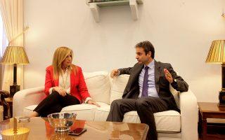 Κυριάκος Μητσοτάκης και Φώφη Γεννηματά (όπως και ο κ. Στ. Θεοδωράκης) συμφώνησαν να «τα λένε», ιδίως για τα μείζονα θέματα που προωθεί η κυβέρνηση.