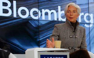 Η διευθύντρια του ΔΝΤ Κριστίν Λαγκάρντ στο Φόρουμ του Νταβός έδωσε έμφαση στη μεταρρύθμιση του ασφαλιστικού, ενώ επαναβεβαίωσε τη στήριξή της στο ελληνικό αίτημα για περαιτέρω αναδιάρθρωση του χρέους.