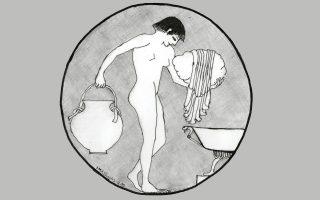 Ληκύθιο με τη μορφή του Αττη, νεαρού Φρύγα, αγαπημένου της μητέρας των θεών. Μακεδονία, μέσα 4ου αιώνα π.Χ.