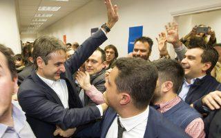 O νέος πρόεδρος της ΝΔ Κυριάκος Μητσοτάκης , αποχωρεί από το γραφείο του μετά την ανακοίνωση των αποτελεσμάτων στις εσωκομματικές εκλογές της ΝΔ, Δευτέρα 11 Ιανουαρίου 2016. Με καταμετρημένο το 70% των ψήφων ο Κυριάκος Μητσοτάκης προηγείται με 51% έναντι 49% του Βαγγέλη Μεϊμαράκη, σύμφωνα με την επίσημη ανακοίνωση που έκανε ο πρόεδρος της ΚΕΦΕ Γιάννης Τραγάκης. ΑΠΕ-ΜΠΕ/ΓΡΑΦΕΙΟ ΤΥΠΟΥ Κ. ΜΗΤΣΟΤΑΚΗ/ΔΗΜΗΤΡΗΣ ΠΑΠΑΜΗΤΣΟΣ