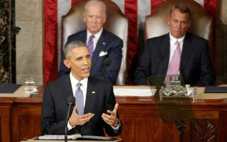 Ο πρόεδρος των ΗΠΑ Μπαράκ Ομπάμα και ο αντιπρόεδρος Τζο Μπάιντεν.
