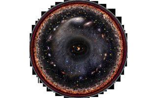 Pablo Carlos Budassi: Ολο το σύμπαν μέσα σε έναν κύκλο, με το ηλιακό μας σύστημα στο κέντρο και από κει και πέρα, ο γαλαξίας μας, ο κοντινός μας γαλαξίας της Ανδρομέδας μέχρι το αόρατο πλάσμα της Μεγάλης Εκρηξης.