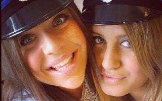 Η λιβανικής καταγωγής Αλεξάντρα Μέζερ (δεξιά) σε πρόσφατη φωτογραφία με φίλη της.