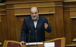 Ο αναπληρωτής υπουργός Οικονομικών Τρ. Αλεξιάδης.