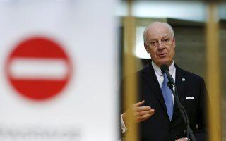 Ο διαμεσολαβητής του ΟΗΕ για τη Συρία, Στεφάν ντε Μιστούρα.